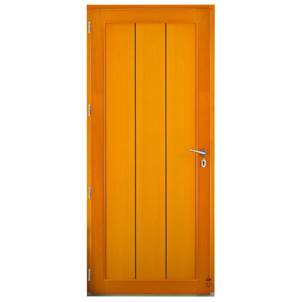 Porte d'entrée Mixte bois/alu Pasquet Alcor intérieur moabi