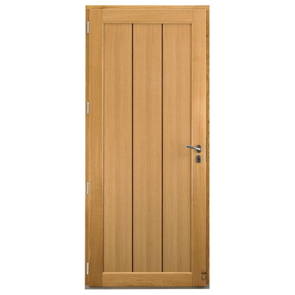 Porte d'entrée Mixte bois/alu Pasquet Alcor intérieur chêne