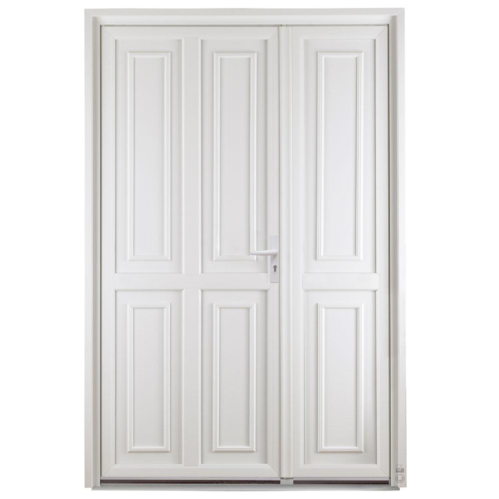 Porte d'entrée PVC Pasquet Anis extérieur semi fixe