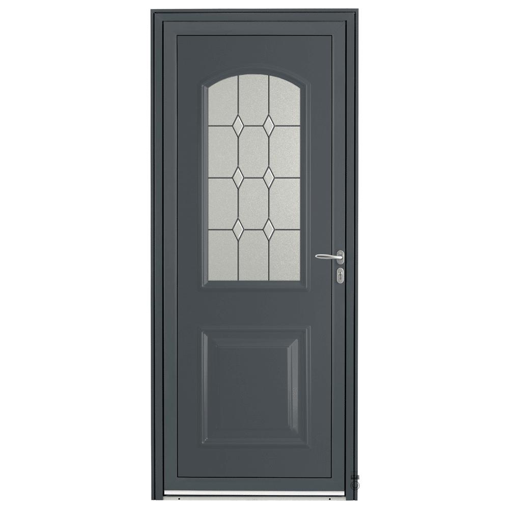 Porte d'entrée Aluminium Pasquet Arly Gris 7016
