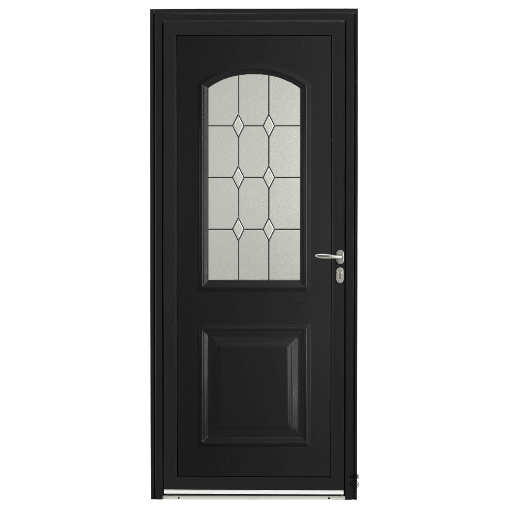 Porte d'entrée Aluminium Pasquet Arly Noir 9005
