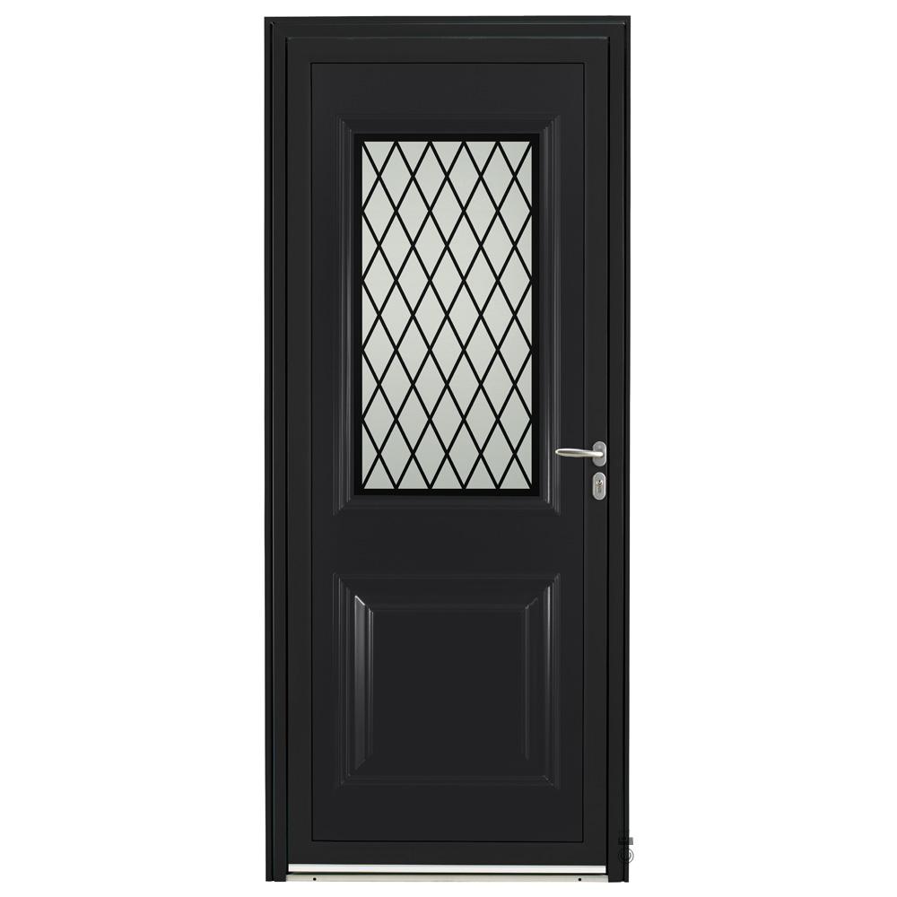 Porte d'entrée Aluminium Pasquet Bayon Noir 9005
