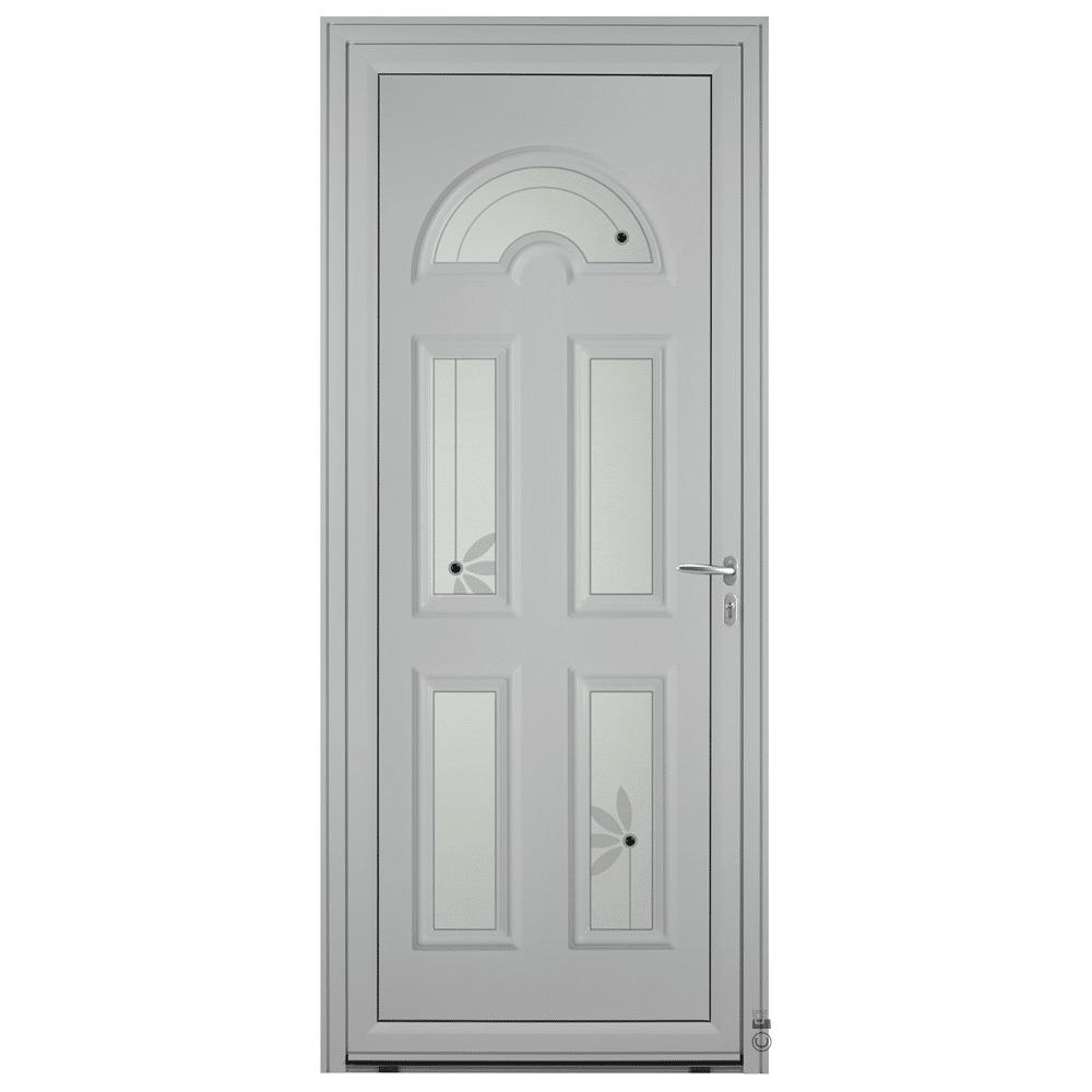 Porte d'entrée Aluminium Pasquet Blavet Gris 7035