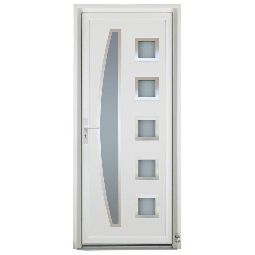 Porte d'entrée PVC Pasquet Carat blanc
