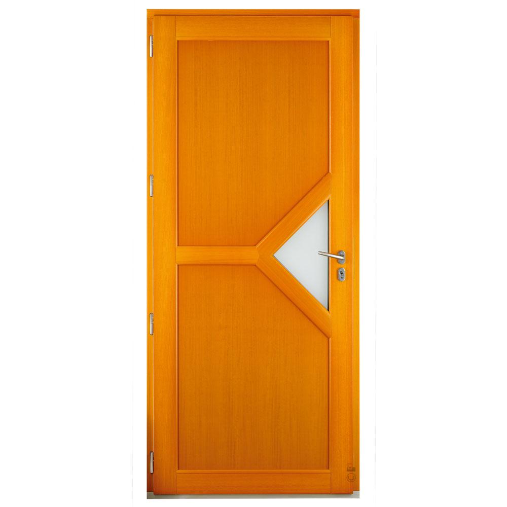 Porte d'entrée Mixte Pasquet Dédicace bois aluminium intérieur moabi