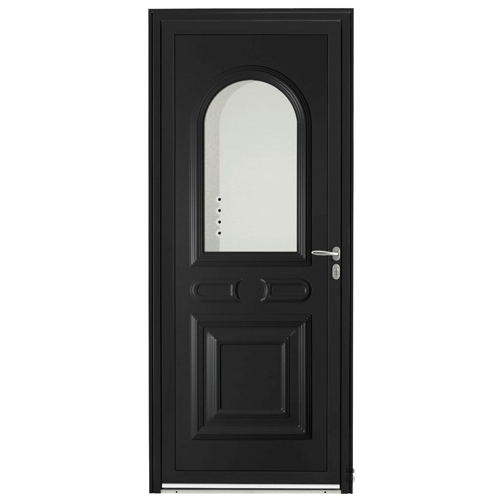 Porte d'entrée Aluminium Pasquet Drac Noir 9005