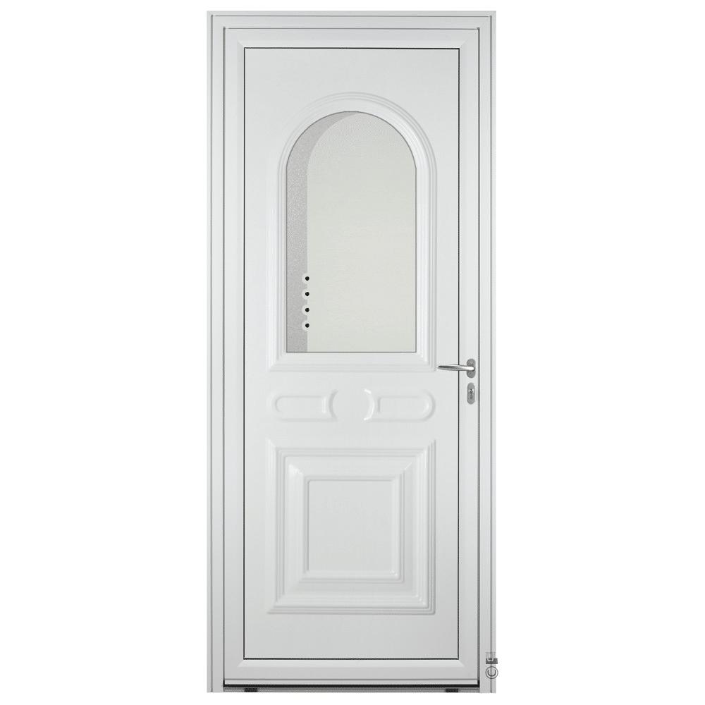 Porte d'entrée Aluminium Pasquet Drac Blanc 9016