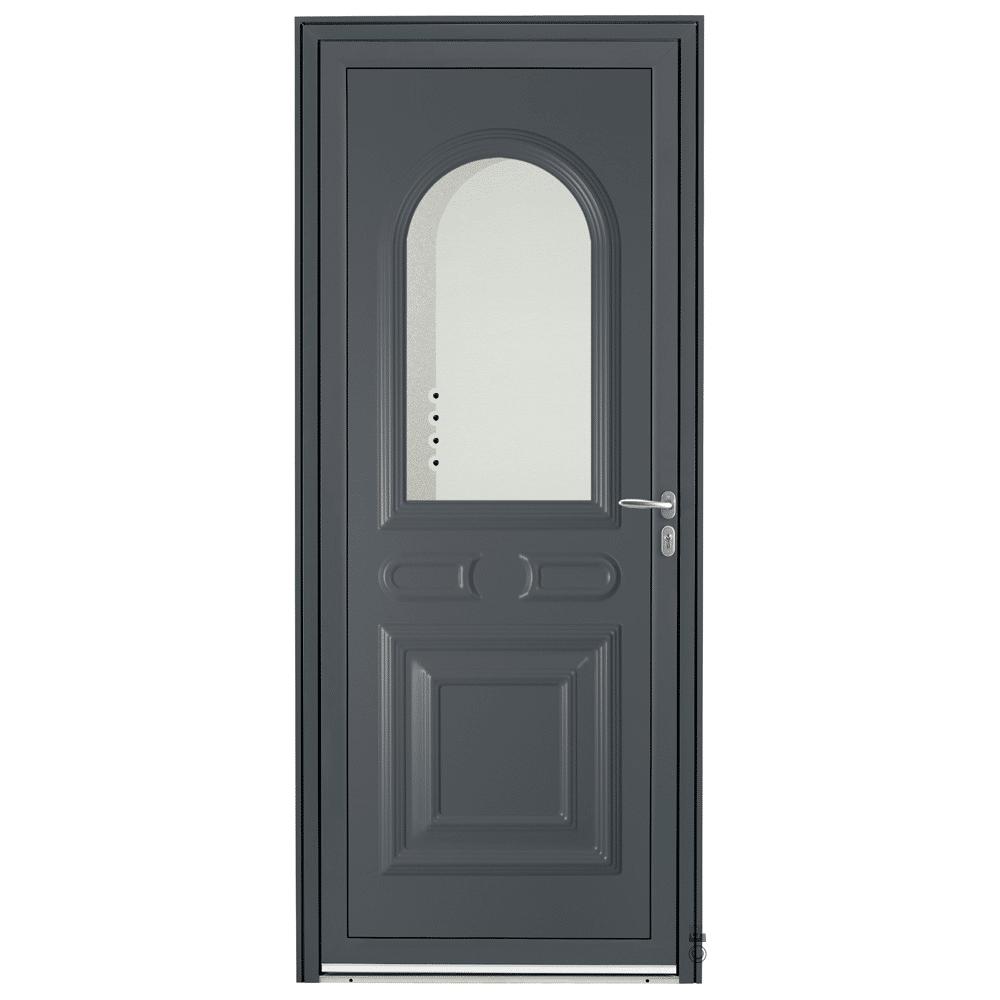 Porte d'entrée Aluminium Pasquet Drac Gris 7016