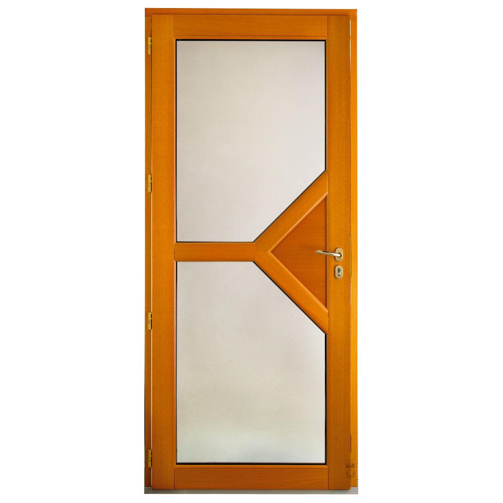 Porte d'entrée Mixte Pasquet Emblème bois alu intérieur moabi