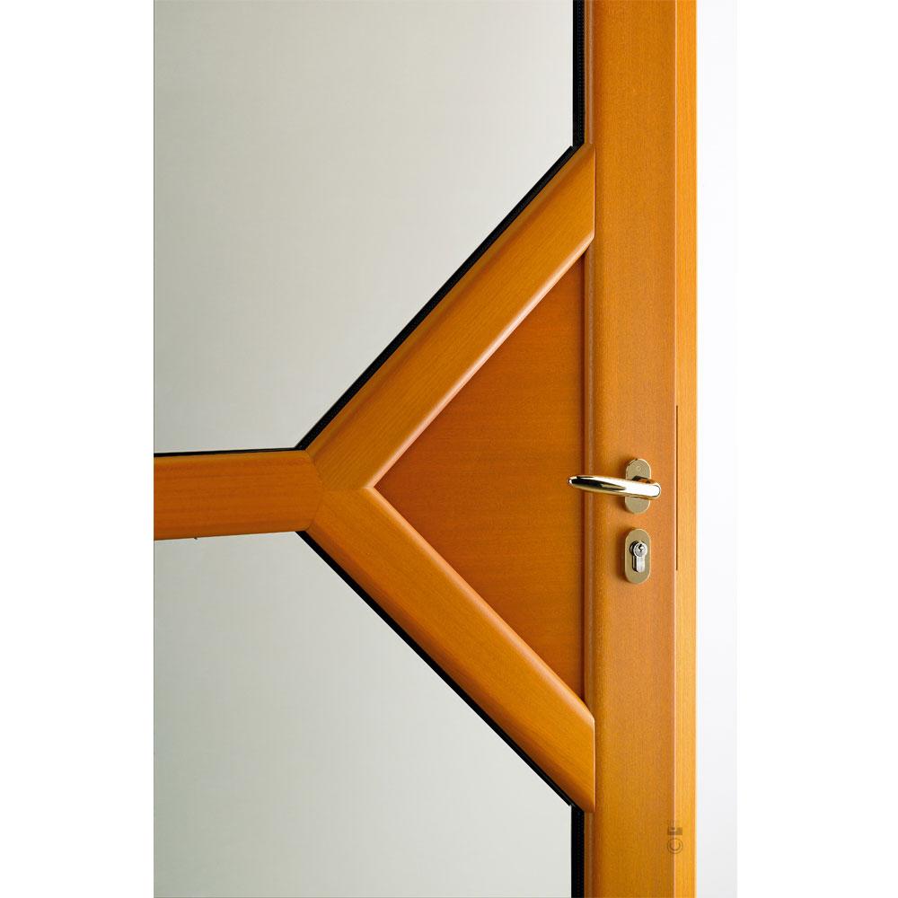Porte d'entrée Mixte Pasquet Emblème bois alu intérieur moabi zoom