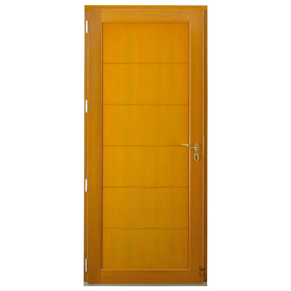 Porte d'entrée Mixte Pasquet Eridan bois alu intérieur