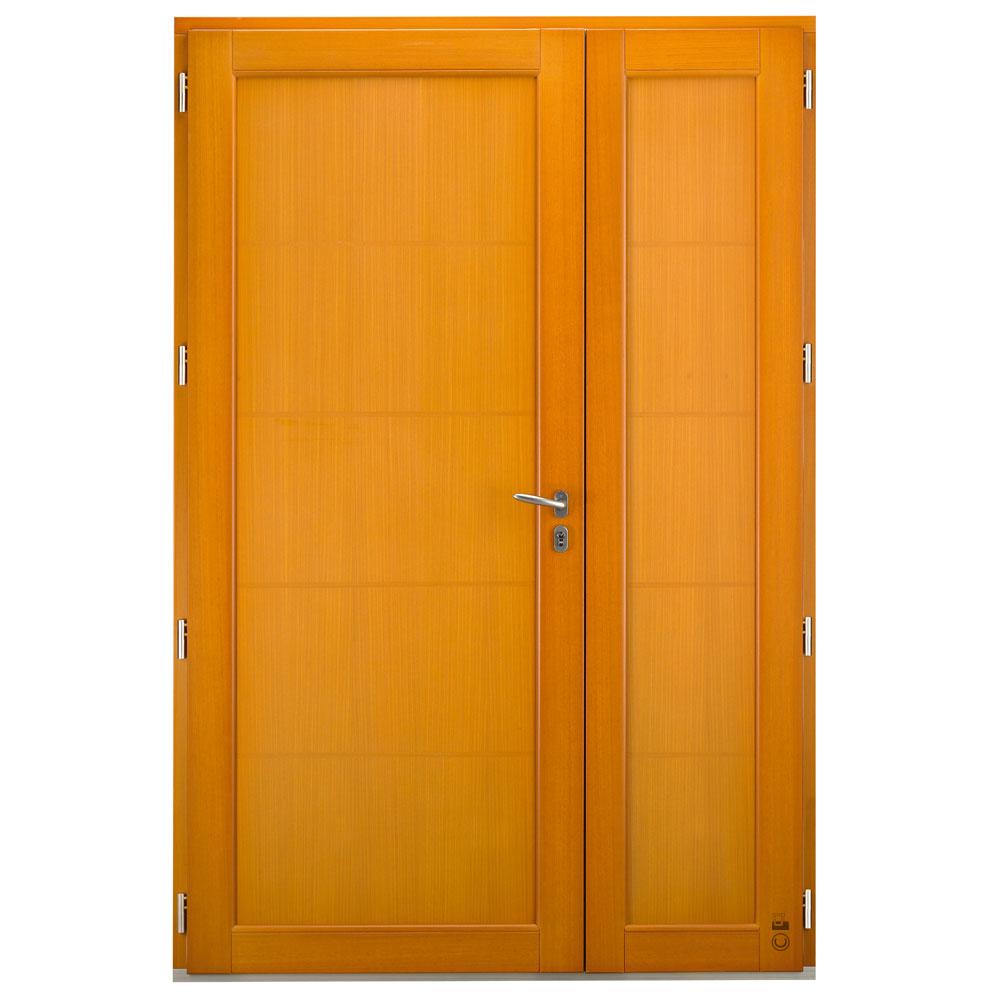 Porte d'entrée Mixte Pasquet Eridan bois alu semi-fixe intérieur