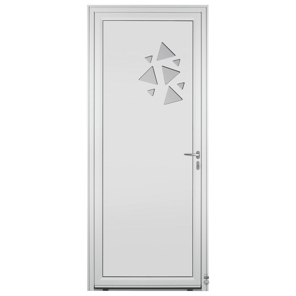 Porte d'entrée Aluminium Pasquet Flocon Blanc 9016