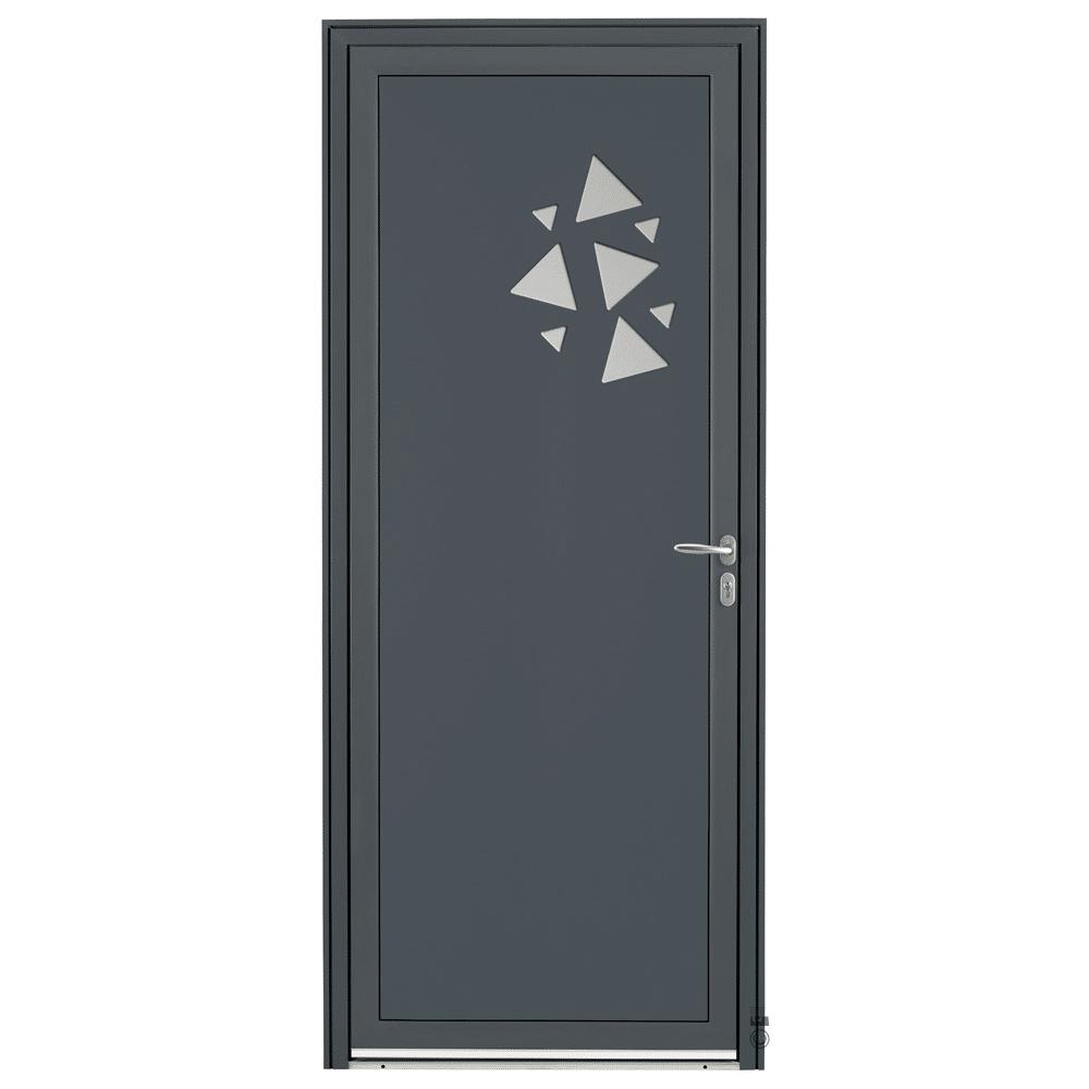 Porte d'entrée Aluminium Pasquet Flocon Gris 7016