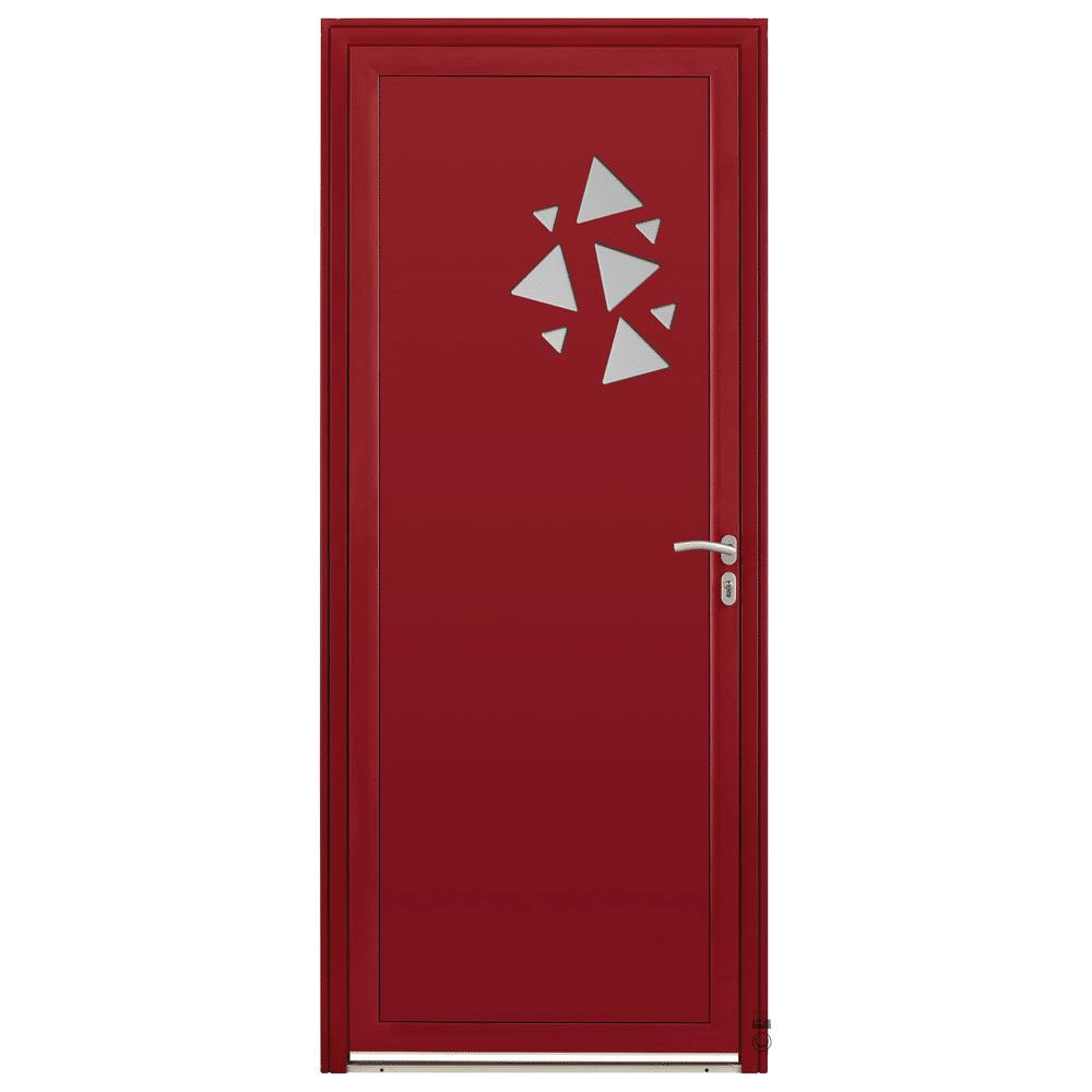 Porte d'entrée Aluminium Pasquet Flocon Rouge 3004