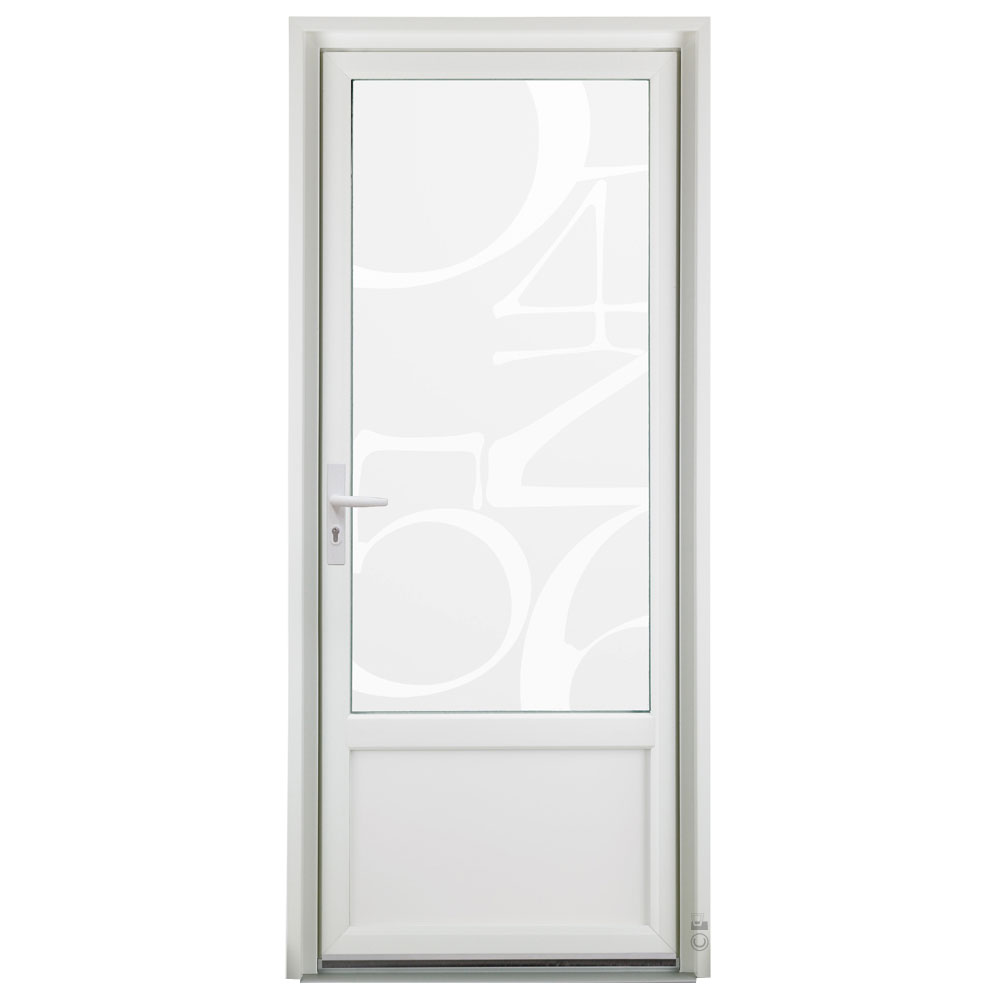 Porte d'entrée PVC Pasquet Girofle vitrée vitrage chiffres