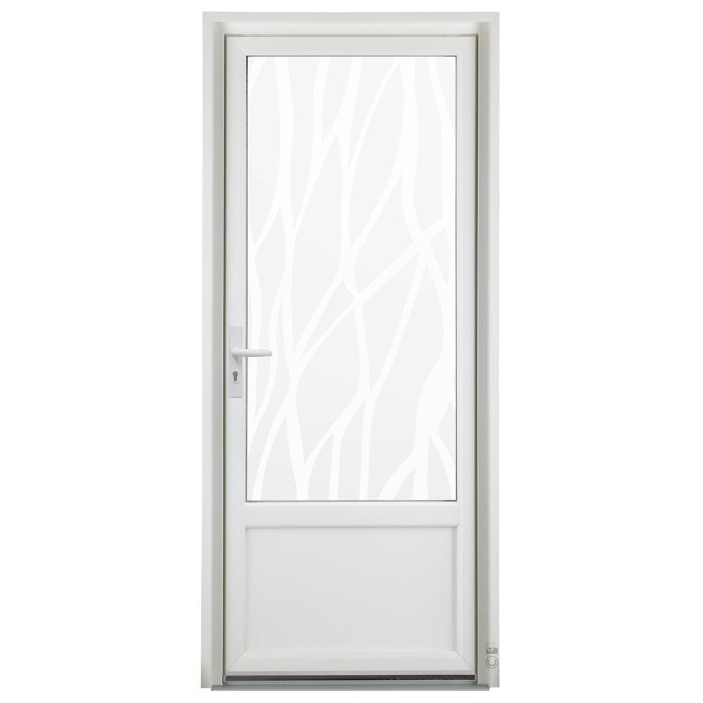 Porte d'entrée PVC Pasquet Girofle vitrée vitrage lianes