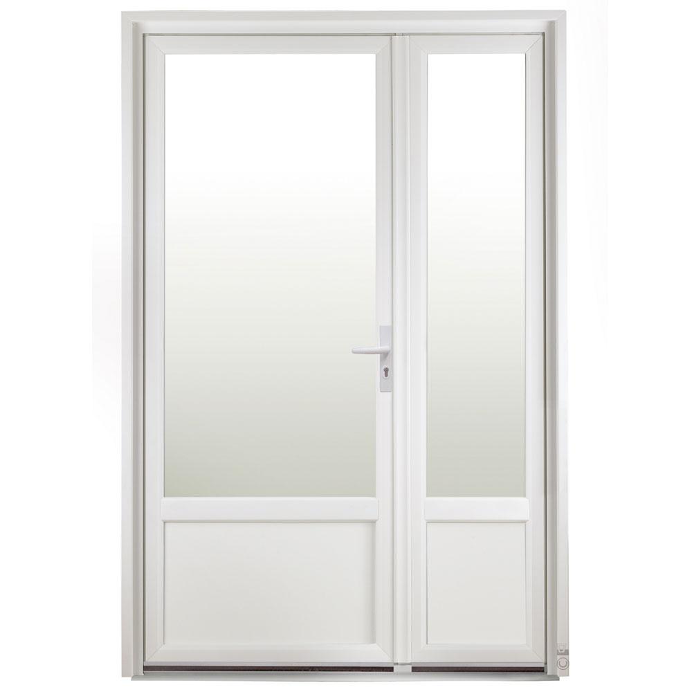 Porte d'entrée PVC Pasquet Giroflz avec semi fixe