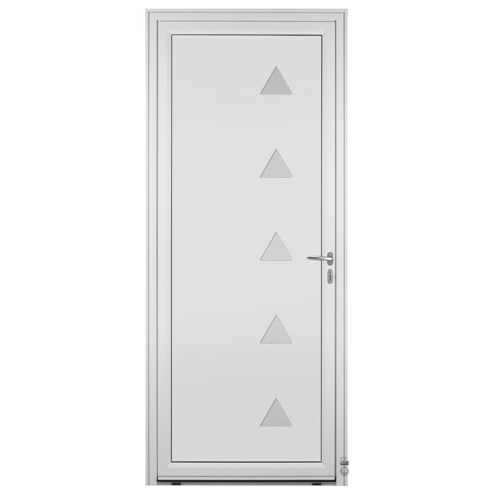 Porte d'entrée Aluminium Pasquet Glacier Blanc 9016