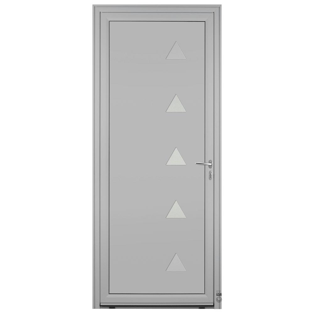 Porte d'entrée Aluminium Pasquet Glacier Gris 7035