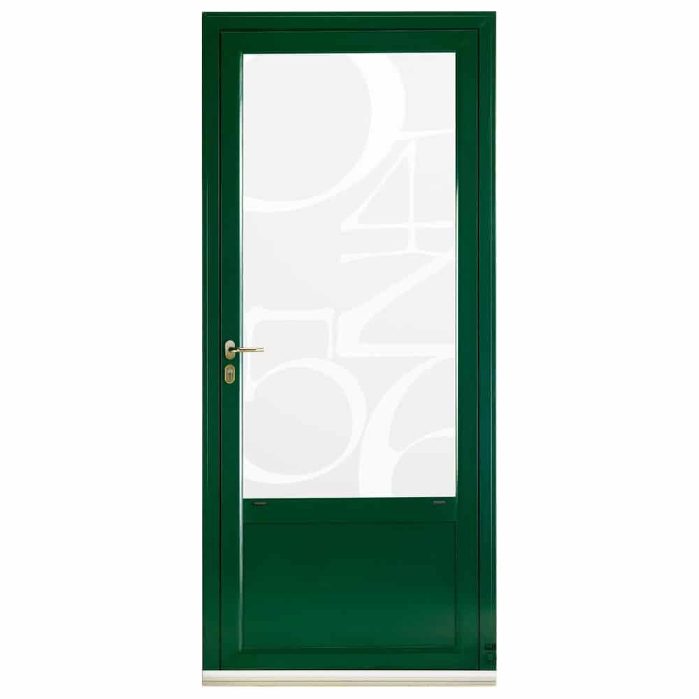 Porte d'entrée Aluminium Pasquet Index Vitrage chiffres