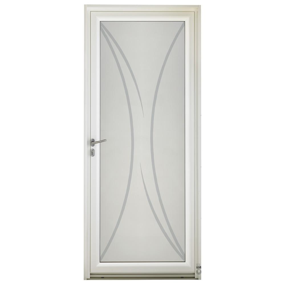 Porte d'entrée Mixte Pasquet Infinitive bois alu vitrage Khi extérieur