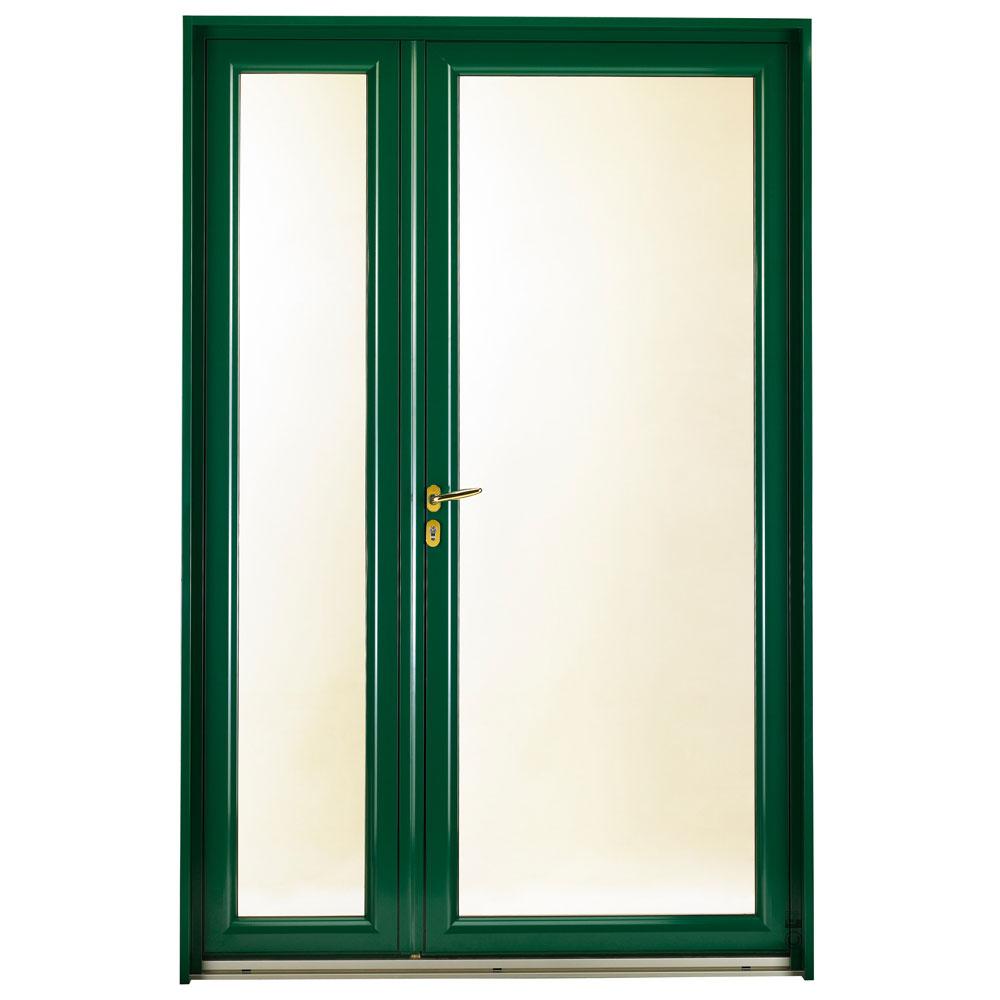 Porte d'entrée Mixte Pasquet Infinitive bois alu semi fixe vert