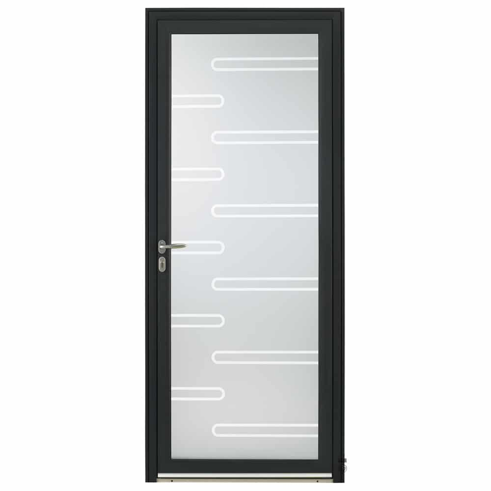 Porte d'entrée Aluminium Pasquet Initiale Vitrage slalom