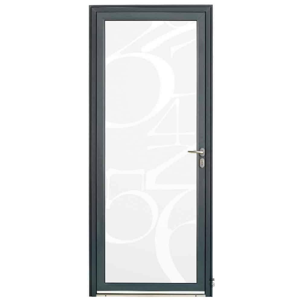 Porte d'entrée Aluminium Pasquet Initiale Vitrage Chiffres