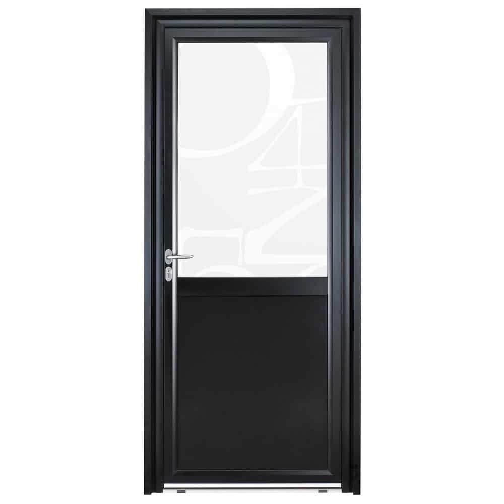 Porte d'entrée Aluminium Pasquet Instinct Vitrage chiffres