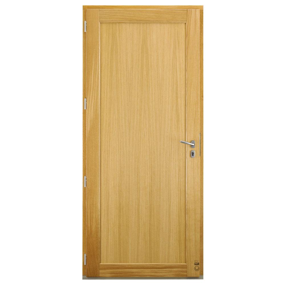 Porte d'entrée Mixte Pasquet Kappa bois alu intérieur chêne