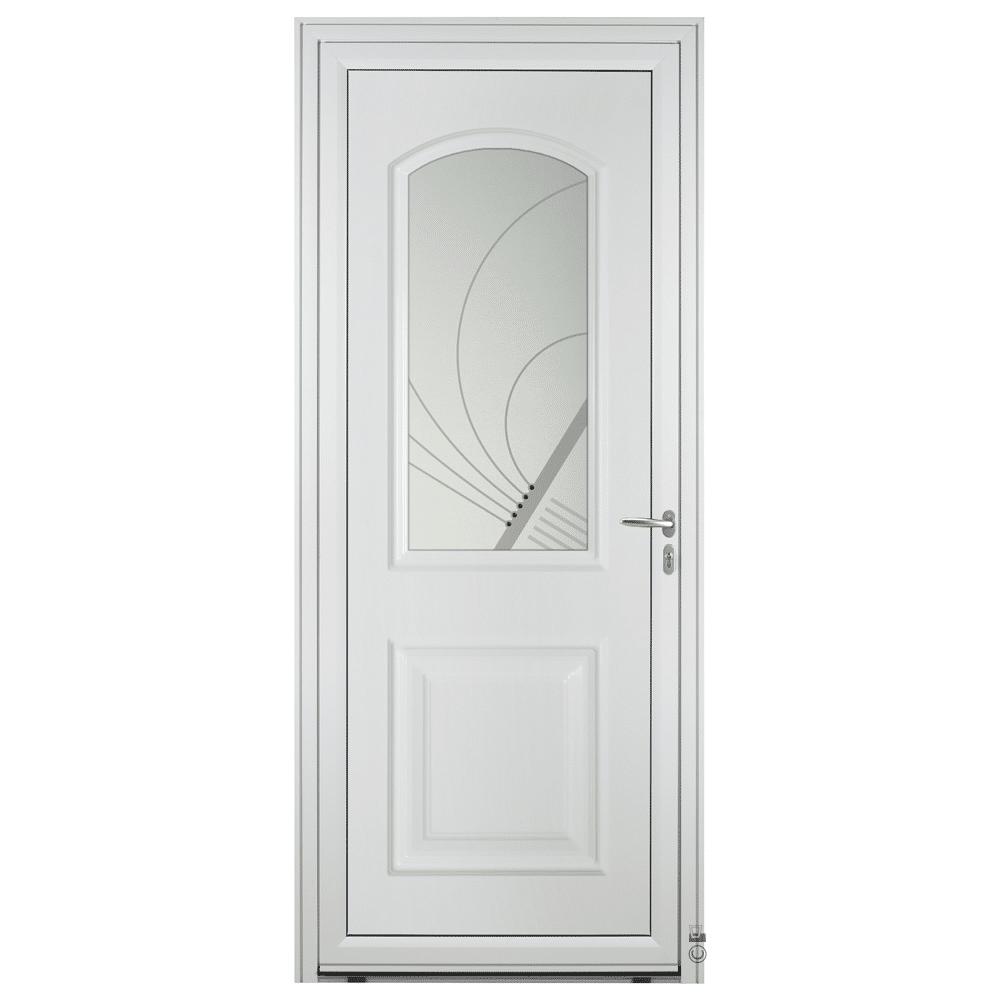 Porte d'entrée Aluminium Pasquet Laita Blanc