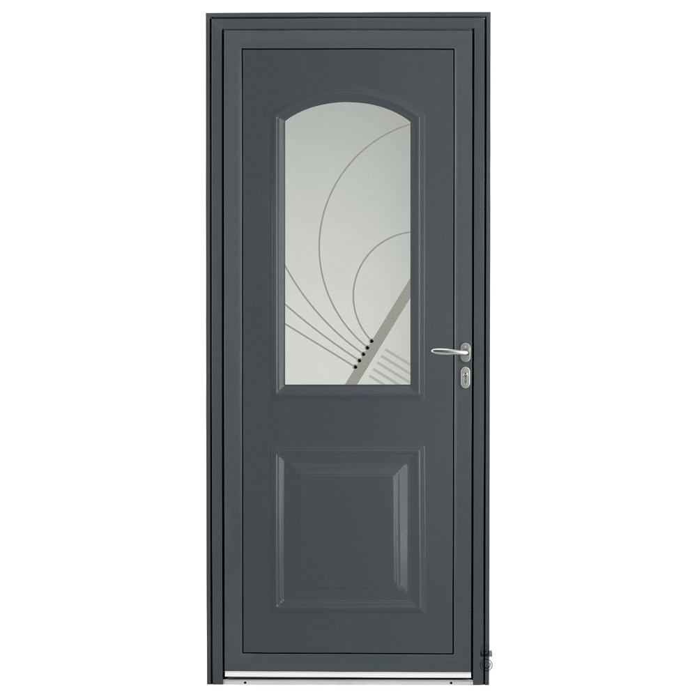 Porte d'entrée Aluminium Pasquet Laita Gris 7016