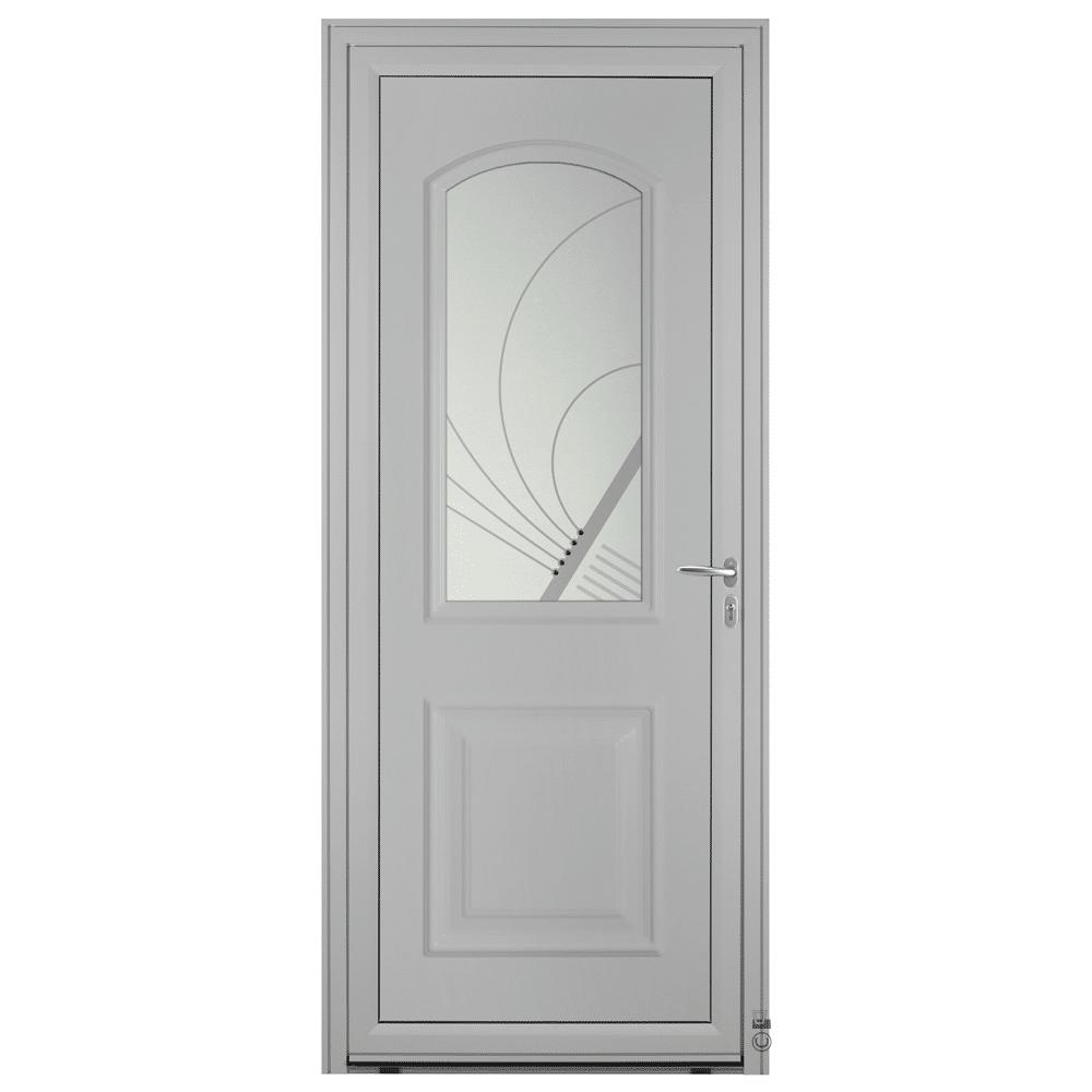 Porte d'entrée Aluminium Pasquet Laita Gris 7035