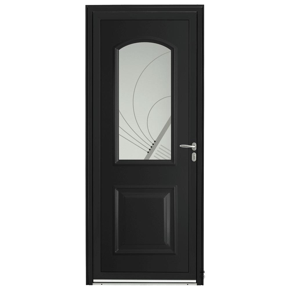 Porte d'entrée Aluminium Pasquet Laita Noir 9005