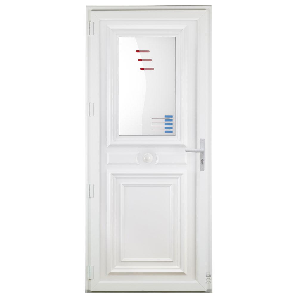 Porte d'entrée PVC Pasquet Nocturne vitrage décoratif intérieur