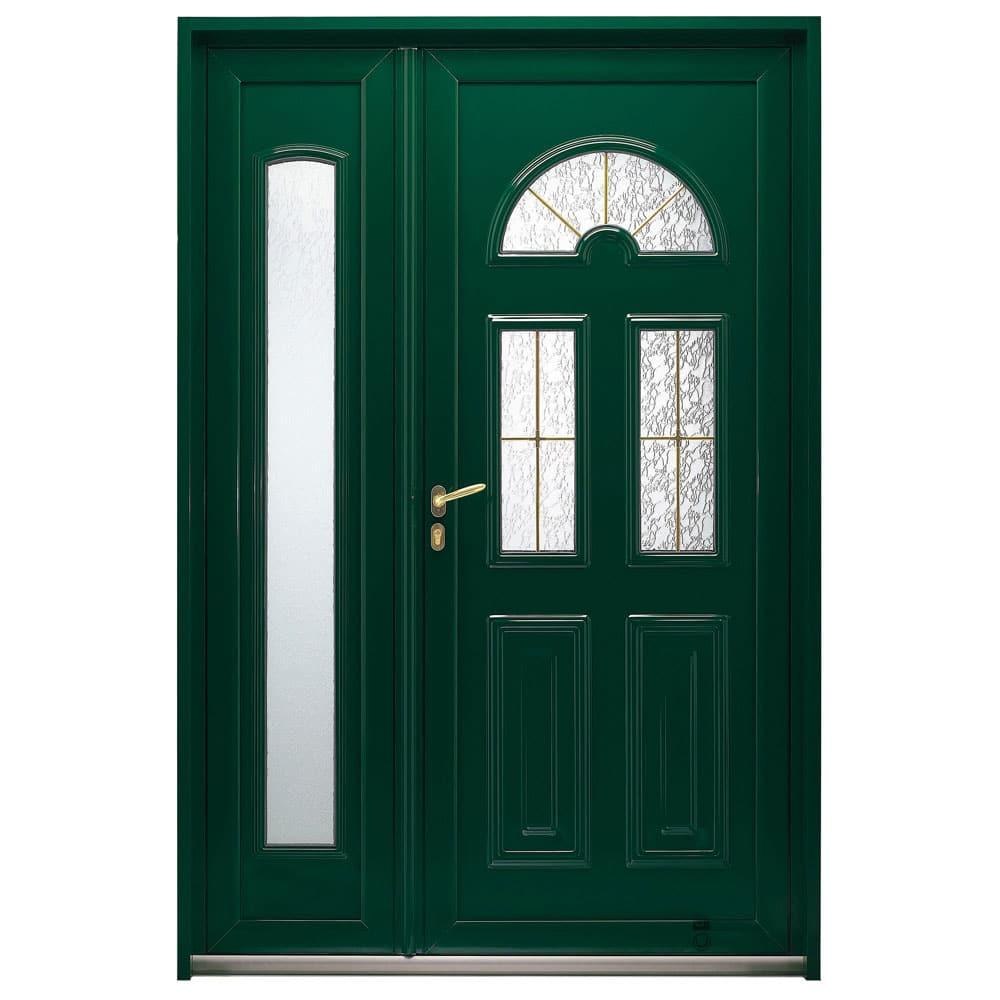 Porte d'entrée Aluminium classique Pasquet Odet avec semi-fixe
