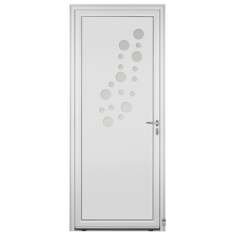 Porte d'entrée Aluminium Pasquet Rosée Blanc 9016