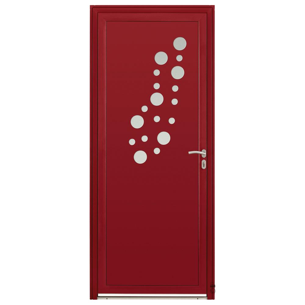 Porte d'entrée Aluminium Pasquet Rosée Rouge 3004
