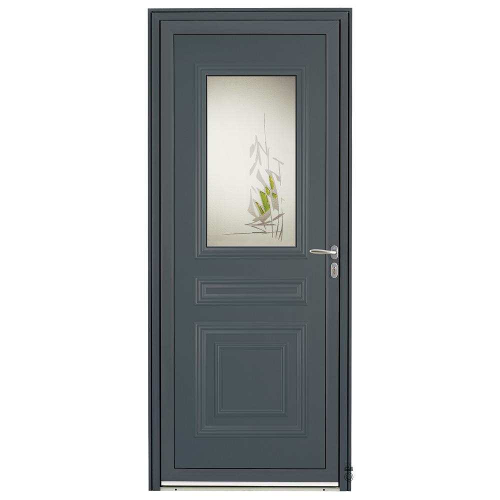 Porte d'entrée Aluminium Pasquet Sèvre Gris 7016