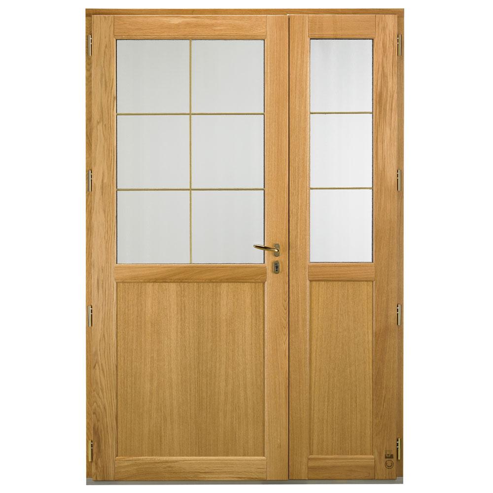 Porte d'entrée Mixte Pasquet Signature bois alu intérieur semi fixe chêne