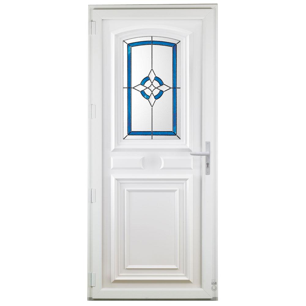 Porte d'entrée PVC Pasquet Sonate vitrage décoratif vue intérieure