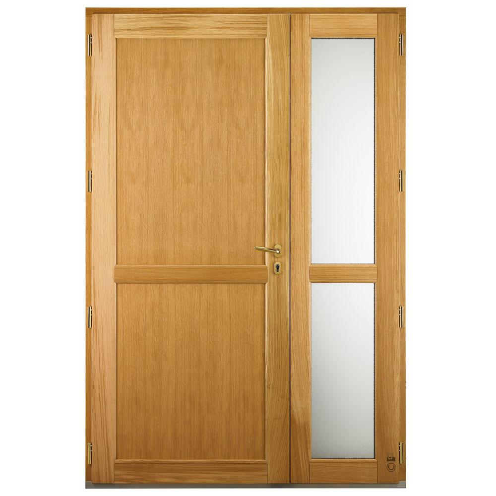Porte d'entrée Mixte Pasquet Symbole bois alu semi fixe vitré intérieur chêne