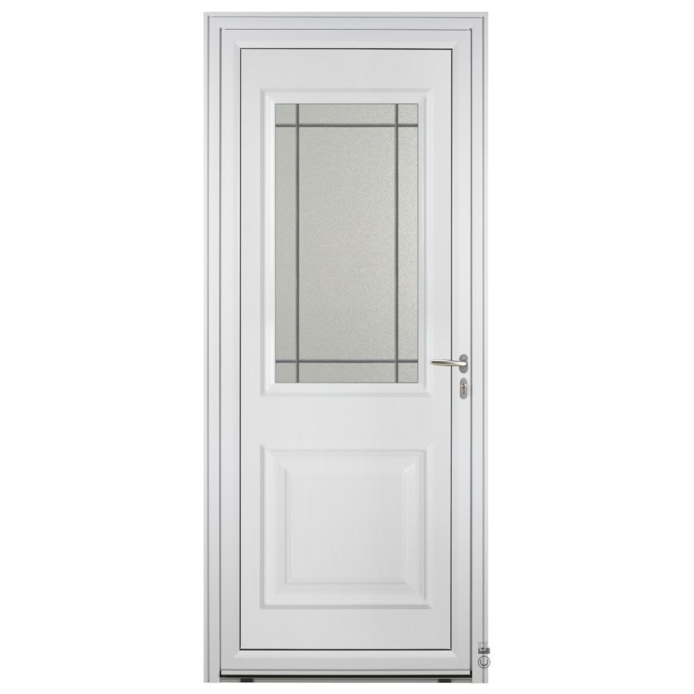 Porte d'entrée Aluminium Pasquet Tille Blanc 9016