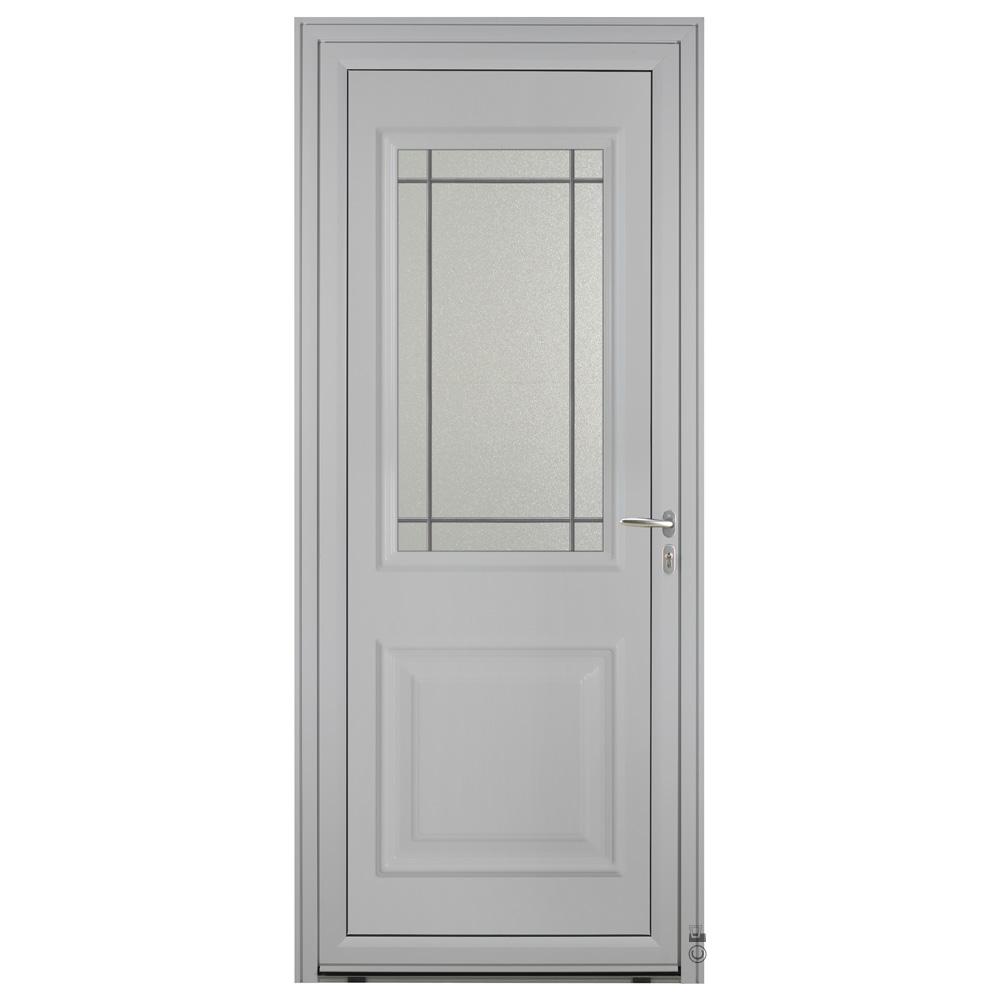 Porte d'entrée Aluminium Pasquet Tille Gris 7035