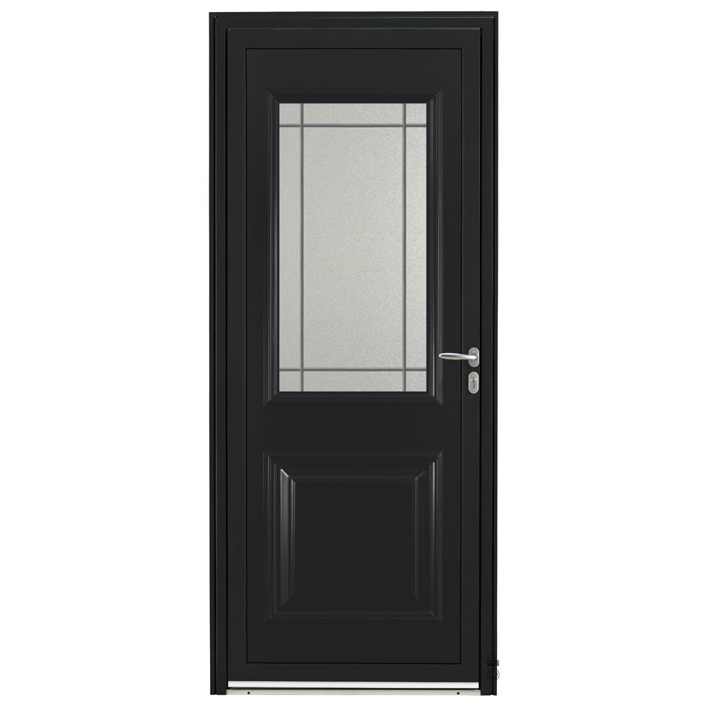 Porte d'entrée Aluminium Pasquet Tille Noir 9005