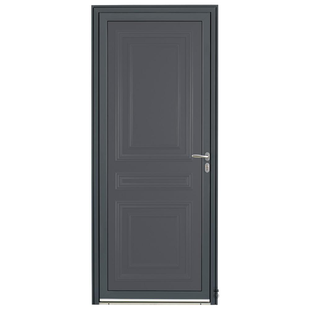 Porte d'entrée Aluminium Pasquet Valserine Gris 7016