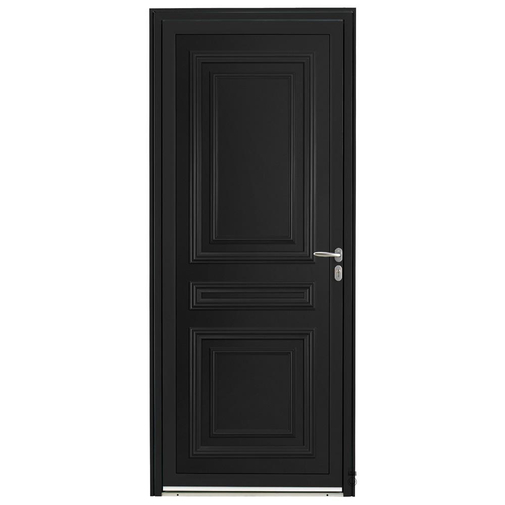 Porte d'entrée Aluminium Pasquet Valserine Noir 9005