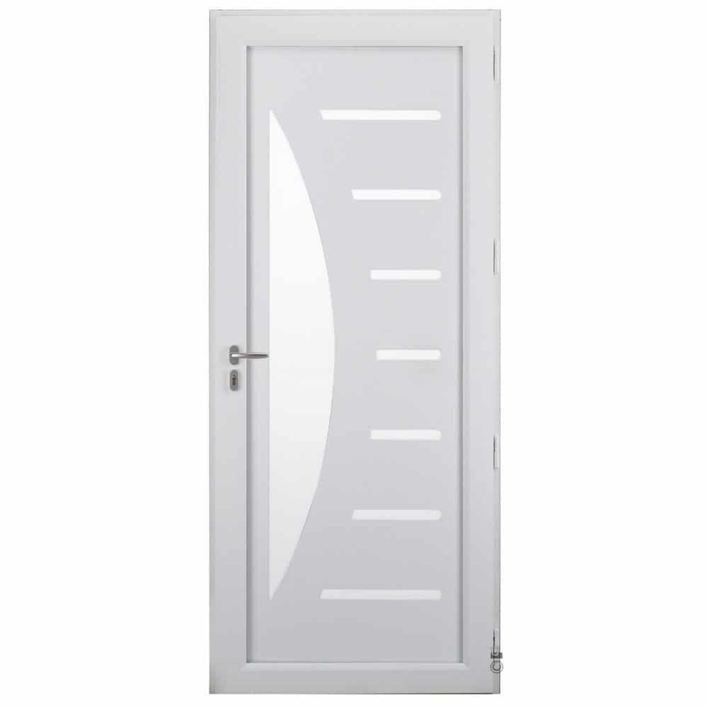 Porte d'entrée Aluminium Pasquet Zénith intérieur blanc