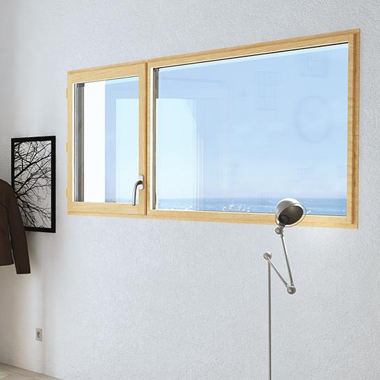 Fenetre auralu 1 vantail + 1 fixe fenetre bois aluminium fenetre mixte pasquet menuiseries